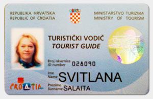Светлана Салаита, я лицензированный гид Хорватии.