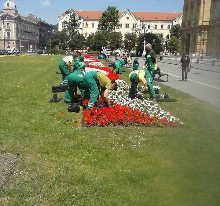 Zagreb im Sommer